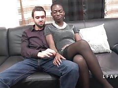 Egy szép fekete pár amatőr Casting